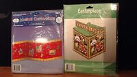 2 Happy Birthday Paper Art Tabletop Centerpiece one is musical NEW