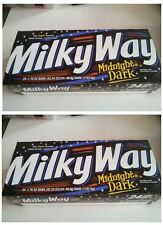 2*  24/1.7oz Milky Way Midnight Dark Chocolate Bar,Caramel,Vanilla Nougat,Mars