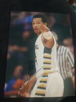 JALEN BRUNSON SIGNED 8X10 PHOTO DALLAS MAVERICKS NBA W/COA+PROOF RARE WOW