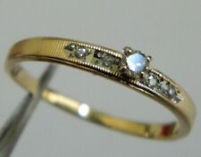 Solid 14K yellow Gold 2.70 mm Diamond Engagement Wedding Ring size 8