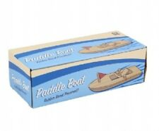 WOODEN RUBBER BAND PADDLE BOAT - WD139 TRADITONAL TOY SAIL BOAT SPEED FUN