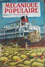 REVUE MECANIQUE POPULAIRE N° 056 TELEVISION FUSEE TORTURE MARINE FUSILS 1951