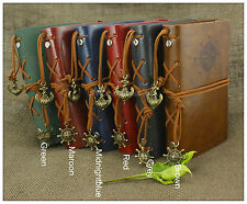 Portable Nautical Personalized Diary Leather Notebook Refillable Journal Maroon