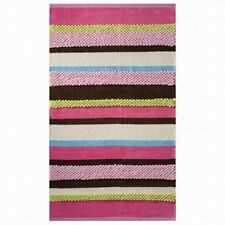 Circo Pink Green Brown Blue Textured Stripe Chenille Accent Throw Area Rug 30x50