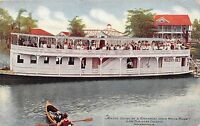 B17/ Indianapolis Indiana Postcard Steamboat Lain Business College White River