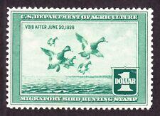 US RW4 $1 Duck Hunting Mint VF OG NH SCV $300