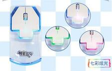 2.4GHZ New Japan Anime Hatsune Miku 7 Colour Luminous USB Wireless Mouse Gift