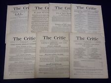 1883-1884 THE CRITIC MAGAZINE LOT OF 7 ISSUES - NICE REVIEWS & ARTICLES - WR 795