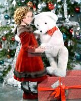 ACTRESS SHIRLEY TEMPLE - 8X10 CHRISTMAS PUBLICITY PHOTO (DD314)