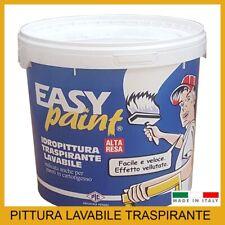 Pittura lavabile traspirante bianca idropittura per muri interni pareti vernice