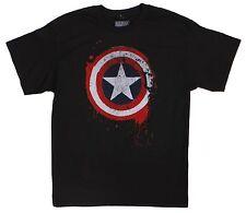 Marvel Comics Mad Engine Black Captain America Tee Size L 100% Cotton T-Shirt