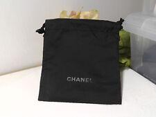 2 Chanel Black Makeup Cloth Drawstring Bag Pouch. Size 5.75H'' x 5.5W''