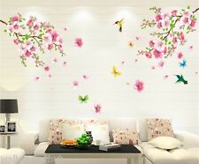 Grand Pretty Pink Blossom Fleurs UK Wall Stickers Decals
