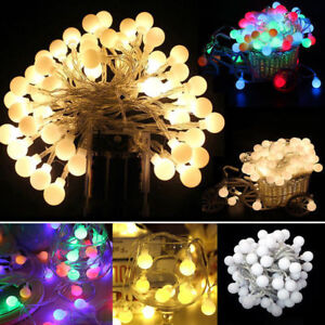 Fairy LED String Lights Round Ball Blubs For Garden Wedding Party Christmas Lamp