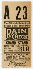 1938-1943 Rare Shibe Park Philadelphia Phillies MLB Baseball Ticket Stub #5