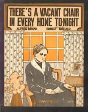 There's A Vacant Chair In Every Home Tonight 1917 WWI Vintage Sheet Music Q20