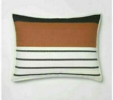 Project 62 Nate Berkus Stripe Woven Yarn Dye Pillow Sham Cream Standard NEW