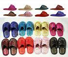 Chinese Handmade Vintage Silk Satin Women'S Men Shoes Slippers