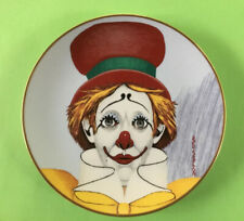 "Vintage Red Skelton ""HAPPY""  Clown Plate Signed & Dated 1977 PERFECT CONDITION!"