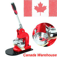 "Canada Sell 1"" Button Maker Badge Punch Press Machine 1000 Parts Circle Cutter"