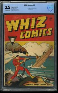 Whiz Comics #5 CBCS VG- 3.5 Captain Marvel WWII Action Cover!