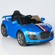 Kids 12V Battery Power Wheels Ride On Car MP3 RC Remote Audi R8 Style Blue