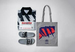 HANON x Umbro 'Carbon '92' Pack  -  Retro Scotland Shirt (L) and Sliders (UK11)