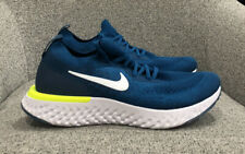 Nike Men's Epic React Flyknit Running Shoes Green Abyss/Blue Force/White 8.5 US