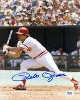 Pete Rose PSA DNA Coa Hand Signed 8x10 Photo Autograph