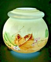 Vintage Lamp Base Font Part Antique Old Hand Painted Glass Electric Hurricane