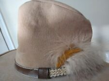 Bailey U- rollit Brim Cowboy Hat, Velour.  Tan, Size 7 3/8