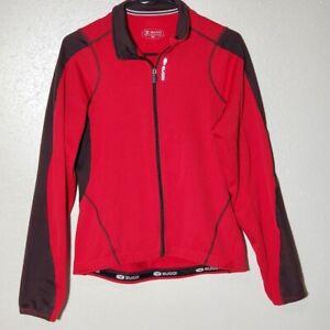 Sugoi Women's Full Zip Knit Cycling Sweater Pink Black Medium