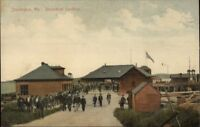 Stonington ME Steamboat Landing c1910 Postcard