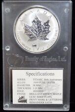 1998 CANADIAN SATIN SILVER $5 TITANIC PRIVEY 86TH ANNIVERSARY COIN