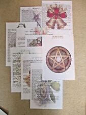THE 8 SABBATS, 9  PAGES OF INFORMATION ON THESE WICCA PAGAN WITCH CELEBRATIONS