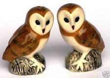 Barn Owl Salt and Pepper Cruet Set by Quail Pottery  Gift Boxed CLEARANCE