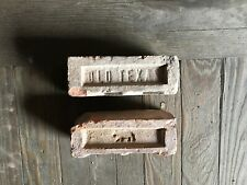 Antique Brick Stamped * Old Texas * Bear Symbol *