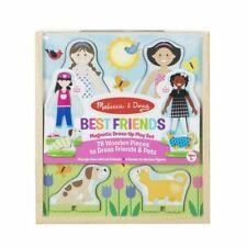 Toy Best Friends Magnetic Dress-up Wooden Dolls Pretend Play Set Melissa & Doug