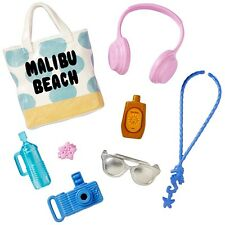 "NEW! 2017 BARBIE FASHION ACCESSORY PACK ""BEACH DAYS"" TOTE SUNGLASSES CAMERA ++++"
