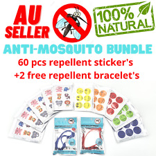 60pcs Mosquito Repellent Stickers Natural Patches Insect Bug Repeller Bundle