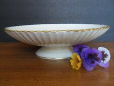 Vintage Lenox Fluted Pedestal Footed Scalloped Bowl Centerpiece Dish 24K Gold