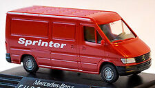 Mercedes Benz Sprinter Box Transporter Euromagazin 1995-2006 red red 1:87 Wik