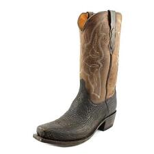 Lucchese M3105 74 Carl Mens 9.5 D Chocolate Brown Sanded Shark BOOTS