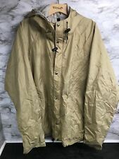 North Face Vintage Gore-Tex Khaki Hooded Pullover Made in USA Mens XL #18