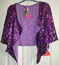 Fabulou purple sequinned balero shrug size 10. fab party wear/festi/special occa