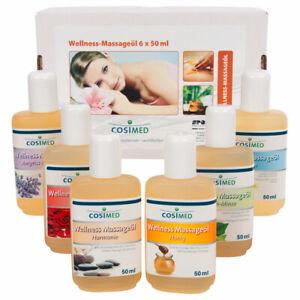 CosiMed Wellness Probierset Massageöl, 6 Flaschen je 50 ml