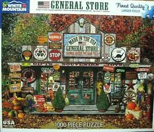 """White Mountain Puzzle NEW SEALED """" GENERAL STORE"""" #1217 Large Pieces FUN NEW !"""