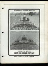 Bush Hog 1437 Tandem Disc Harrow Rare Original Factory Owner's Manual