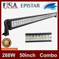 50inch LED Work Light Bar 288W Combo Truck Offroad 4WD SUV Boat Driving Jeep 52