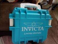 3 Slots Aqua Blue Limited Ed. Invicta Dive Watch Waterproof Plastic Box Case